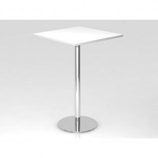 Bistro Tisch Stehtisch Besprechungstisch 08 chrom quadratische Tischplatte 80x80cm - Vorschau 3