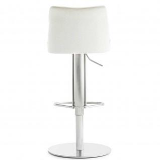 Mayer 1233 Design Lift Barhocker My Icona Edelstahl Leder Optik weiss - Vorschau 2