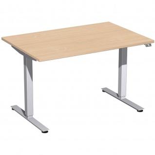 Elektro Smart Schreibtisch elektrisch höhenverstellbar 1200x800x700-1200 cm diverse Dekore - Vorschau 4