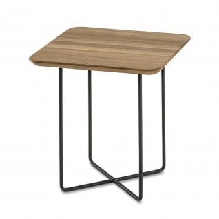 Massivholz Couchtisch Beistelltisch System Soft Quadrat Asteiche/Metall 45x45x48cm