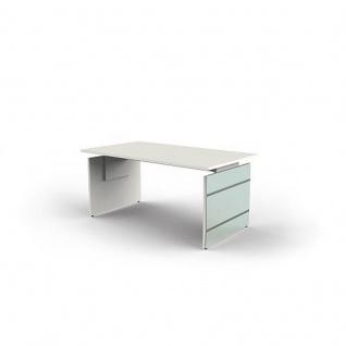 Schreibtisch Lugano 160 x 80 x 68-76 cm Wangen-Gestell