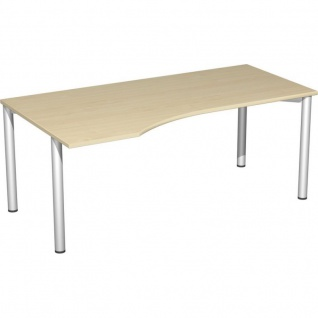 PC-Schreibtisch Bürotisch 4 Fuß Flex links, 180 x 100 cm, Gera - Vorschau 1