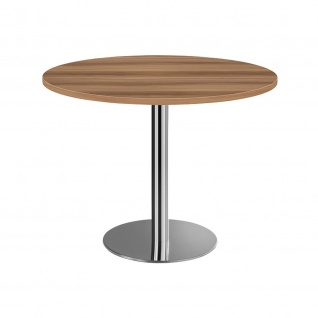 Hammerbacher Bistro Tisch Beistelltisch Besprechungstisch chrom 100 cm Durchmesser - Vorschau 5