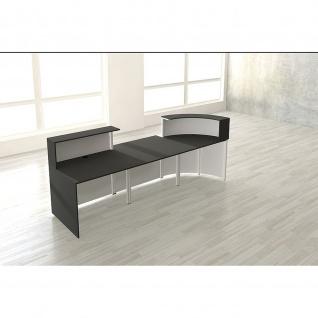 Kerkmann Design-Theke Cento 5 3854 280x95x110cm weiß-anthrazit