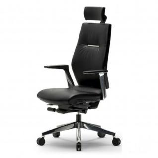 Mayer Chefsessel Sedna 2468, echt Leder, ALU-Ausführung mit Sitztiefenverstellung Leder schwarz 007