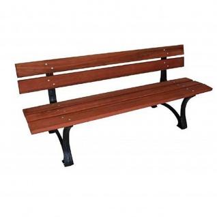 Gartenbank Holzbank Gusseisen 3/4 Sitzer Eukalyptus-Holzbelattung 180x60x73cm