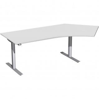 Elektro Flex Winkel-Schreibtisch 135° rechts oder links elektrisch höhenverstellbar 2166 x1130 mm diverse Dekore - Vorschau 3