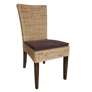 Esszimmerstuhl Cardine Rattan mit Sitzkissen