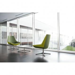 Design Lounge Sessel Mehrzwecksessel Kayak 4-Fußkreuz verchromt einfarbig mittlere Lehne