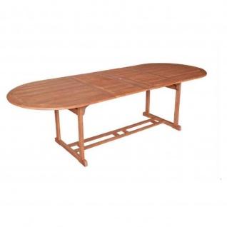 Ausziehtisch Gartentisch Holztisch Tisch Eukalyptusholz 180/260x100 cm