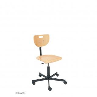Arbeitsstuhl Werkstuhl Werek Holzsitz höhenverstellbar