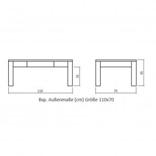 Moderner Massivholz Couchtisch CS100 mit Schublade, Kernbuche/Buche - Vorschau 4