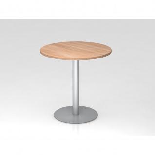 Hammerbacher Bistro Tisch Beistelltisch Besprechungstisch 08 silber 80 cm Durchmesser - Vorschau 5