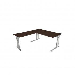 Kerkmann Schreibtisch 4090 Form 4 160x80 x mit C-Fuß-Gestell und Anbautisch - Vorschau 5