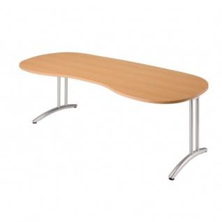 Büro Schreibtisch 200x100 cm Nierenform Modell BS20