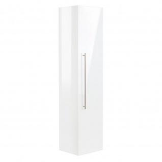 Badezimmer Badmöbel Hochschrank Hängeschrank HOMELINE 150cm weiß Hochglanz - Vorschau 2