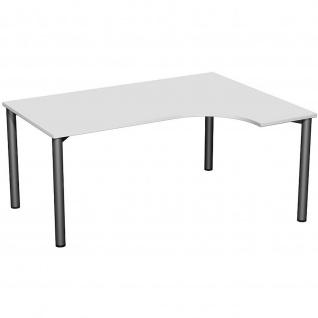 Gera PC-Schreibtisch Bürotisch 4 Fuß Flex rechts 1600x800/1200mm verschied.Dekore - Vorschau 2