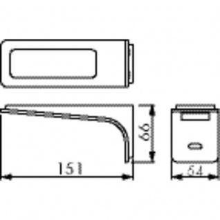 Leuchte Ledray 2 LED Set- 2 mit LED Touch Schalter u. Dimmer edelstahlfarbig - Vorschau 2
