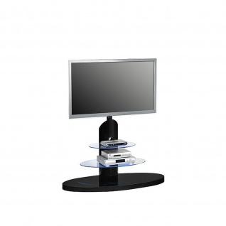 TV-Rack, Hochglanz - Klarglas 110 x 131, 5 x 47 cm