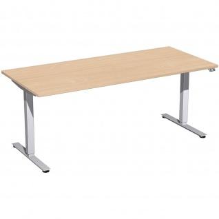 Elektro Smart Schreibtisch elektrisch höhenverstellbar 1800x800x700-1200 cm diverse Dekore - Vorschau 2
