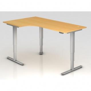 Büro Schreibtisch Stehtisch höhenverstellbar 200x120 cm Freiform Modell XDSM82 mit Memory-Schalter