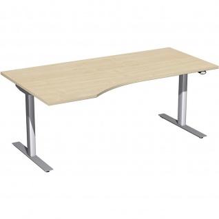 Elektro Flex Schreibtisch Freiform rechts oder links elektrisch höhenverstellbar 1800 x 800/1000 mm diverse Dekore - Vorschau 4