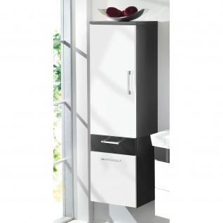 Badmöbel Badezimmer Gästebad Hochschrank Rima, gerade Hochglanz MDF-Fronten - Vorschau 2