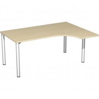 Gera PC-Schreibtisch Bürotisch 4 Fuß Flex rechts 1600x800/1200mm verschied.Dekore - Vorschau 5