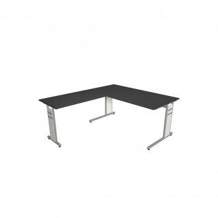 Kerkmann Schreibtisch 4090 Form 4 160x80 x mit C-Fuß-Gestell und Anbautisch - Vorschau 4