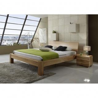Modernes Einzelbett Doppelbett Massivholz Lotus Premium Kernbuche/Wildeiche