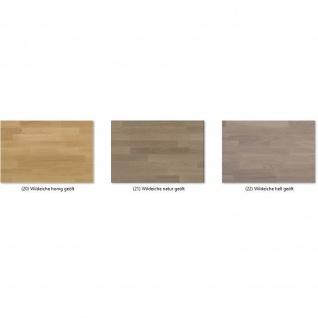 Moderner Massivholz Couchtisch CT50S mit Ablageboden und Schubladen - Vorschau 3