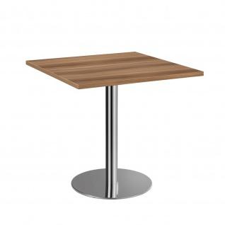 Bistro Tisch Beistelltisch Besprechungstisch 88 chrom 80 x 80 cm - Vorschau 3