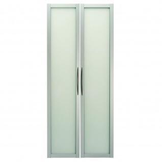 Büro Paar Türen aus Glas Modell 410G/S, 5OH, zum Anbau an Modell 4000