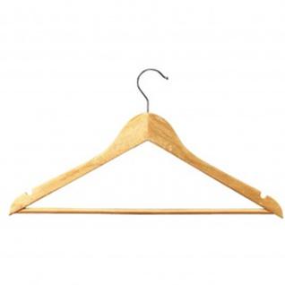 unilux Holz-Kleiderbügel aus Echtholz, Farbe: braun