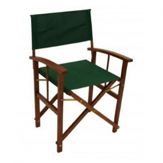 Regiestuhl Klappstuhl in grün aus Eukalyptusholz 2er Set