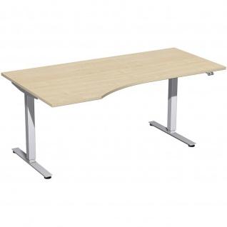 Elektro Smart Freiform-Schreibtisch rechts oder links elektrisch höhenverstellbar 1800x800/1000 mm diverse Dekore - Vorschau 2