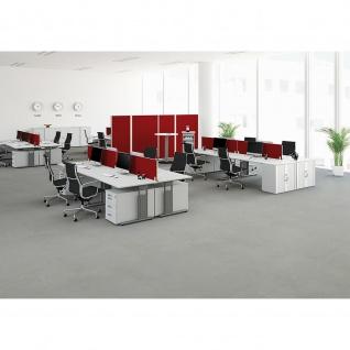 Gera Schreibtisch Bürotisch C Fuß Flex höhenverstellbar 800x800x680-820mm ahorn buche lichtgrau weiß - Vorschau 5