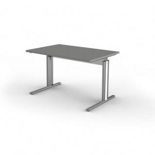 Kerkmann Schreibtisch 3707 Form 4, 120x80x68-82 cm C-Fuß-Gestell Typ B höhenverstellbar