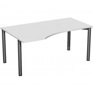 Gera PC-Schreibtisch Bürotisch 4 Fuß Flex links 1600x800x1000mm verschied. Dekore - Vorschau 2