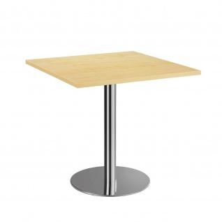 Bistro Tisch Beistelltisch Besprechungstisch 88 chrom 80 x 80 cm - Vorschau 5