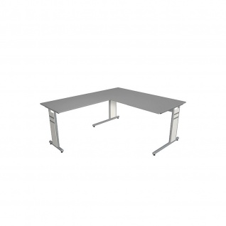 Kerkmann Schreibtisch 4090 Form 4 160x80 x mit C-Fuß-Gestell und Anbautisch - Vorschau 3