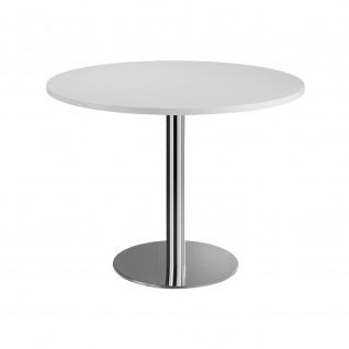 Hammerbacher Bistro Tisch Beistelltisch Besprechungstisch chrom 100 cm Durchmesser - Vorschau 4