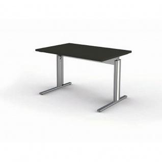 Kerkmann Schreibtisch Form 4, 120x80x68-82 cm C-Fuß-Gestell Typ B höhenverstellbar - Vorschau 3