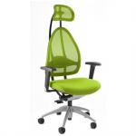 Bürodrehstuhl Open Art 10 apfelgrün Netzrückenlehne