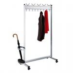 kerkmann Reihengarderobe Kleiderständer Multiline Aluminium 10 Hut- und 36 Mantelhaken 6751