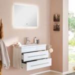 Badmöbel Set Carpo 80 inklusive LED Spiegel mit Touchfunktion