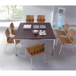 Schreibtisch Konferenztisch Bürotisch E10 Toro Tiefe 90 cm Quadratrohrgestell alu weiß dkl.grau schwarz