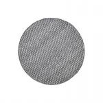 Teppich Wohnteppich Wollteppich My Logan, rund, 100% Wolle, handgefertigt, silbergrau