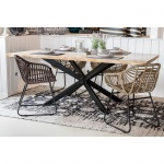 Esstisch Tisch Denver 210 x 100 cm, Gestell Eisen schwarz