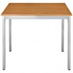 Konferenztisch Universaltisch 76REA, 700 x 600 mm Gestell Alusilber